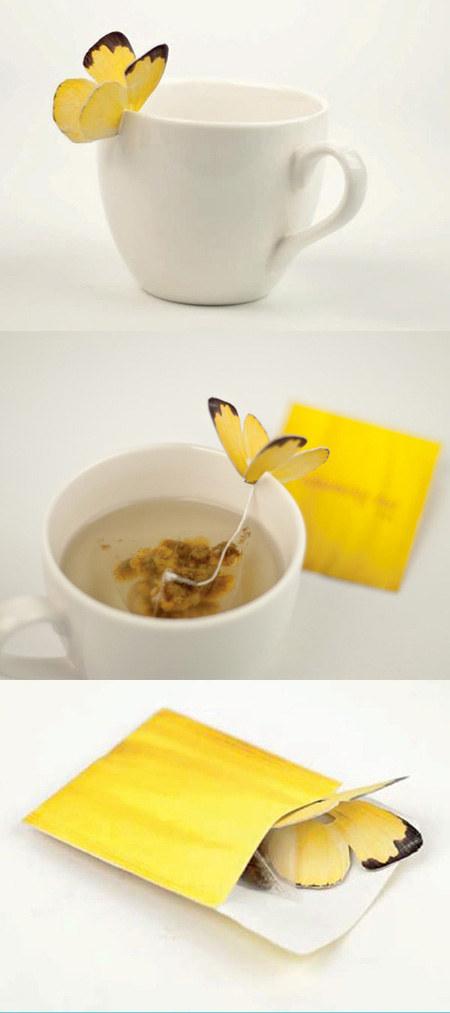 4. Thưởng thức tách trà thơm ngon nhờ chú bướm xinh đẹp.